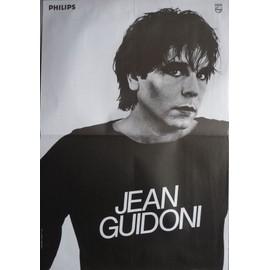 affiche ( format 40X60 cm pliée d'origine ) Jean Guidoni, années 80