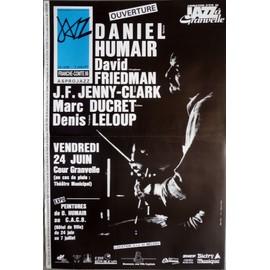 affiche de jazz( format 40X60 cm pliée ) Daniel Humair, David Friedman JF jenny Clark, Granvelle 1988