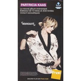 PLV 14x25cm cartonnée rigide PATRICIA KAAS album 2016 / magasins FNAC