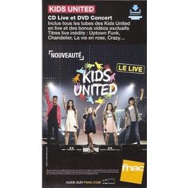 PLV 14x25cm cartonnée rigide KIDS UNITED live / magasins FNAC