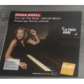 PLV 30x30cm souple DIANA KRALL turn up the quiet / magasins FNAC