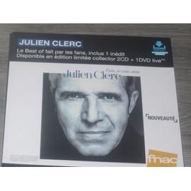 PLV 30x30cm souple JULIEN CLERC le best of par les fans / magasins FNAC