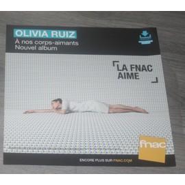 PLV 30x30cm souple OLIVIA RUIZ a nos corps-aimants / magasins FNAC