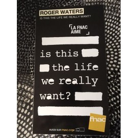 ROGER WATERS PINK FLOYD PLV IS THIS THE LIFE CARTON RIGIDE FNAC