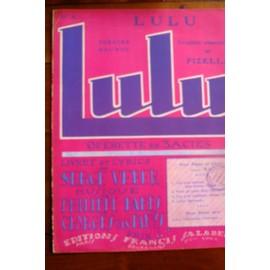 LULU air N°4 de l'opérette LULU Parès et Van Parys
