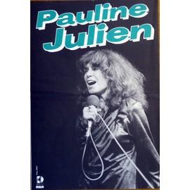 affiche ( format 40X60 cm pliée en deux ) Pauline Julien ( années 80 )