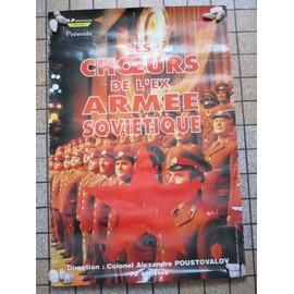 AFFICHE CHOEUR DE L'ARMEE ROUGE EX-ARMEE SOVIETIQUE URSS CCCP RUSSIE