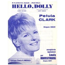 """hello, dolly ! (de la comédie musicale """"Hello, Dolly!"""") / Pierre dalanoë, jerry herman / édition originale pour la version française, piano et chant, texte français et anglais - Partition Piano"""