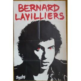 affiche ( format 80X120 cm pliée d'origine ) de Bernard Lavilliers ( années 80 )