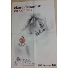 Affiche concert Claire Denamur 40 X 60 cm