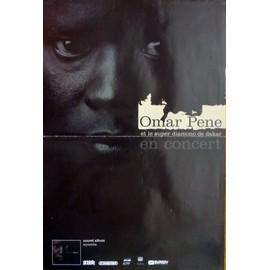 affiche 40X60 cm pliée en deux Omar Pene et le super diamono de Dakar en concert, 2005