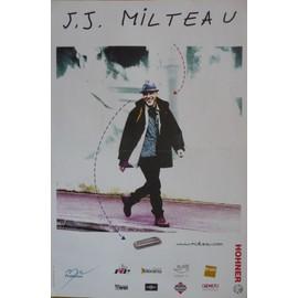 affiche ( format 40X60 cm pliée en deux ) Jean-Jacques Milteau, année 90