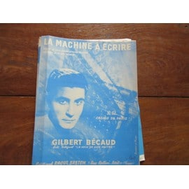 la machine a ecrire ( gilbert becaud