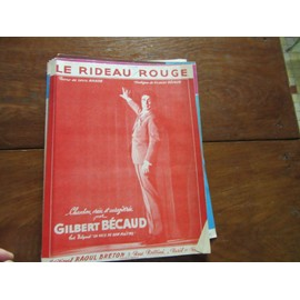 le rideau rouge ( gilbert becaud poeme louis amade