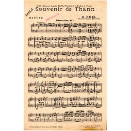 """Conducteur Ancien """"Souvenir De Thann - Marche"""""""