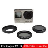 YOINS® Gopro Hero 3 3 + 4 Anneau adaptateur en alliage + Filtre Polarisant cc67c519ce3a