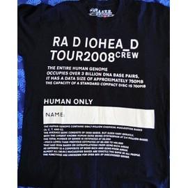 t-shirt d'équipe tournée de Radiohead