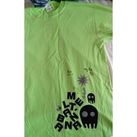 t-shirt fluo Melt Banana signé par groupe original