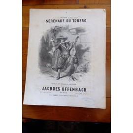 SERENADE du TORERO Jacques OFFENBACH Litho. de JOREL