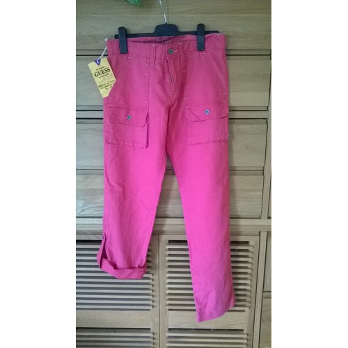 Pantalon <strong>guess</strong> lin fr 40 us 30 31 saumon