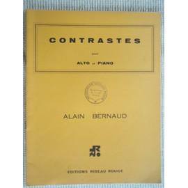 """Partition """" Contrastes """" pour Alto et Piano"""