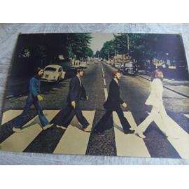 Poster Affiche Papier parchemin brun. THE BEATLES dim. 42X30cm