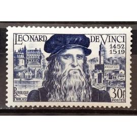Léonard de Vinci 30f (Impeccable n° 929) Neuf** Luxe (= Sans Trace de Charnière) - Cote 10,00€ - France Année 1952 - N18525