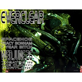 Reproduction d'art Everclear Live at Theatre in the Clouds Frank Kozik 56 x 43 cm