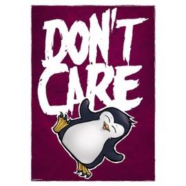 Psycho Penguin Mini Poster 32 x 44 cm Don't Care Plastifié
