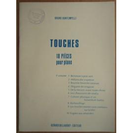 """PARTITION """" TOUCHES """" 18 PIECES POUR PIANO B. BONTEMPELLI"""