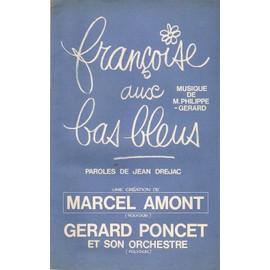 rare partition MARCEL AMONT françoise aux bas bleus
