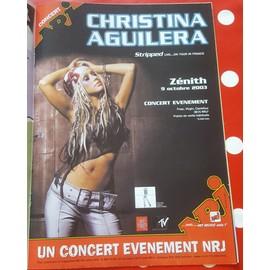 poster a4 christina aguilera