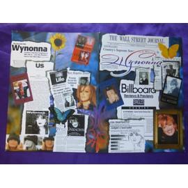 Wynonna Dossier publicitaire deux pages dépliantes cartonnées 22.8 x 30.4 cm USA