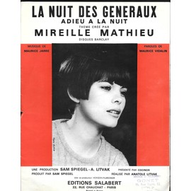 PARIS BRULE T IL LA NUIT DES GENERAUX MIREILLE MATHIEU