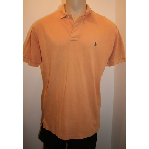 Polo <strong>ralph</strong> <strong>lauren</strong> manches courtes homme ocreorange taille m l
