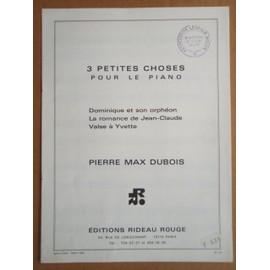 """Partition """" 3 PETITES CHOSES """" pour Piano"""