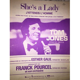 Tom Jones Esther Galil Paul Anka SHE'S A LADY J'ATTENDS L'HOMME -