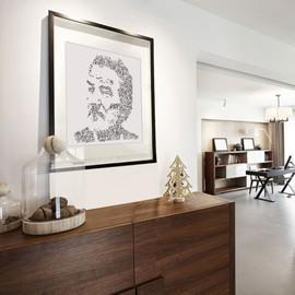 Eddy Mitchell - 30x30cm - Poster affiche - Portrait biographique - Print en edition ouverte - dessin à la main - chaussettes noires blues schmoll - numerote e tsigne a la main