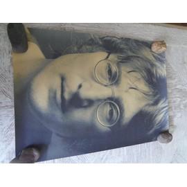 Poster Affiche Papier parchemin brun. Affiche photo rétro John LENON dim. 42X30cm