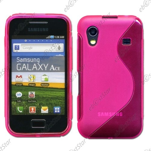ebestStar ® pour Samsung Galaxy Ace S5839i, S5830, S5830i - Housse Etui Coque Silicone Gel Motif S-line Protection Souple, Couleur Rose [Dimensions ...