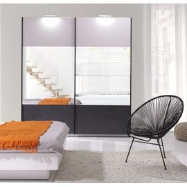 armoire portes coulissantes miroir d occasion. Black Bedroom Furniture Sets. Home Design Ideas