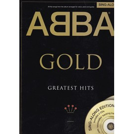 Abba Gold greatest hits (avec 2 cds) - partition piano & chant & accords guitare (sing-along)