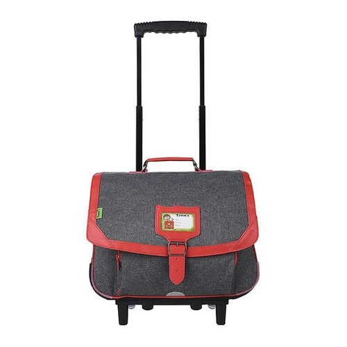 5ab09caa25 <strong>Cartable</strong> A roulettes tanns 38 cm 2 compartiments gris