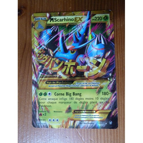 Mega M Scarhino Ex Secrete 220pv 112//111 XY Poings Furieux Carte Pokemon neuve