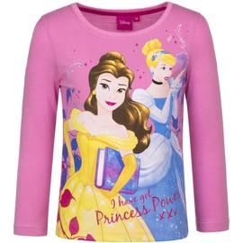 T-Shirt Manches Longues Princesse Enfant Fille 100% Coton En Rose T  6 64149aac37c3
