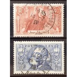 Série Jean Jaurès - N° 318-319 Obl - Cote 5,60€ - France Année 1936 - N19282