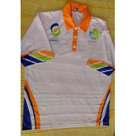 2d673d98e28 Polo Football Diffusion Sport Polyester L Blanc