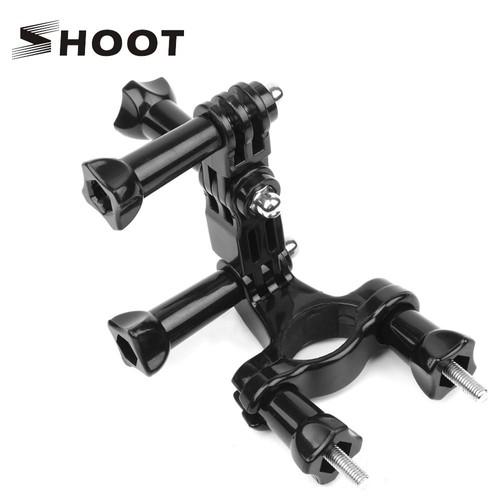 SHOOT Vélo Guidon Tige de Selle Fixation pour GoPro Hero 5 4 3 Yi SJ4000 Caméra avec Bras Pivot Trép