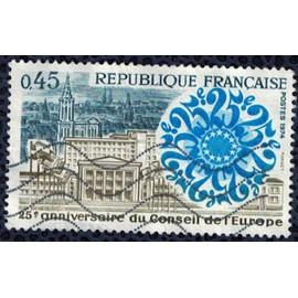 France 1974 Oblitéré Used 25ème anniversaire du Conseil de l