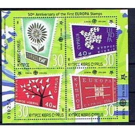 Chypre 50 ans Europa CEPT 2005 bloc neuf**